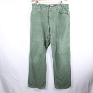 Vineyard Vines Corduroy Moss Green Pants 34x32